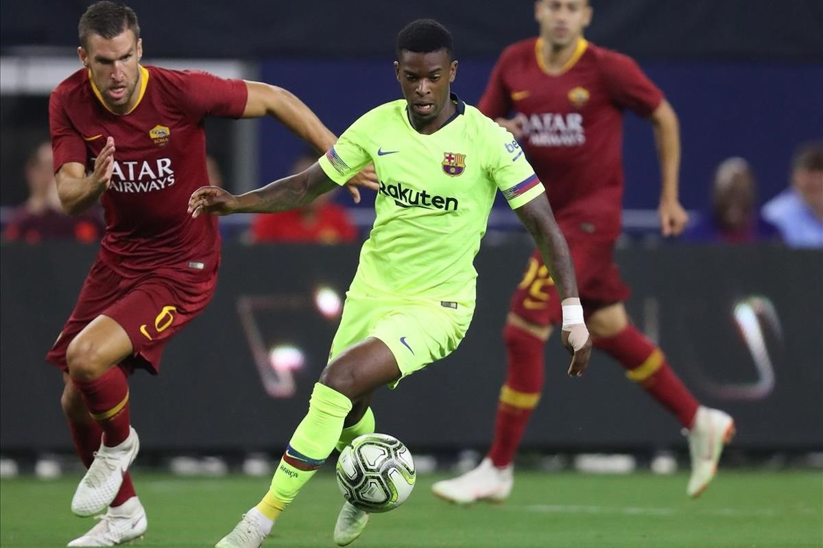 Semedo en un partido de pretemporada con el Barcelona