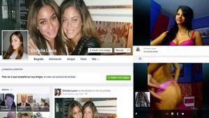 Imágenes utilizadas por una de las tramas desextorsión para captar víctimas en España.
