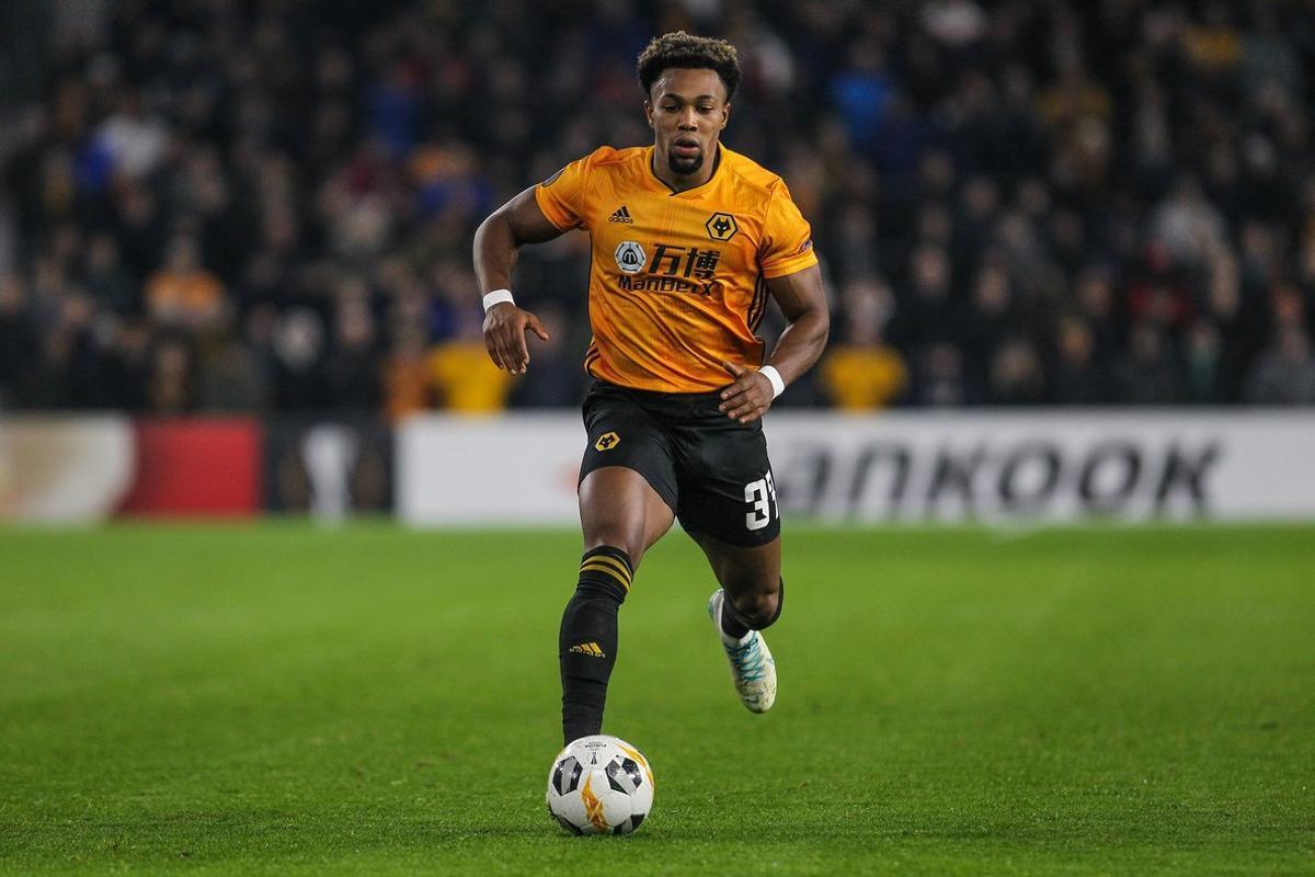 El nuevo internacional español Adama Traoré durante un partido con el Wolverhampton.
