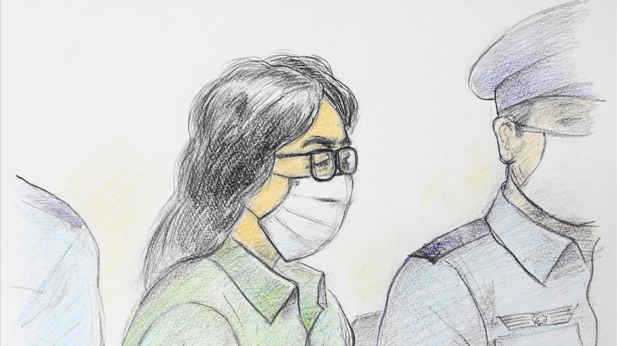 This court sketch drawing created by Masato Yamashita on December September 30  2020 shows Takahiro Shiraishi (L)  at the first trial at Tokyo District Court Tachikawa Branch in Tachikawa  Tokyo  - Shiraishi dubbed the  Twitter killer  was on December 15  2020  sentenced to death for murdering and dismembering nine people he snared online  local media said  (Photo by Masato YAMASHITA   JIJI PRESS   AFP)   Japan OUT   - RESTRICTED TO EDITORIAL USE  MANDATORY CREDIT OF THE ARTIST  TO ILLUSTRATE THE EVENT AS SPECIFIED IN THE CAPTION