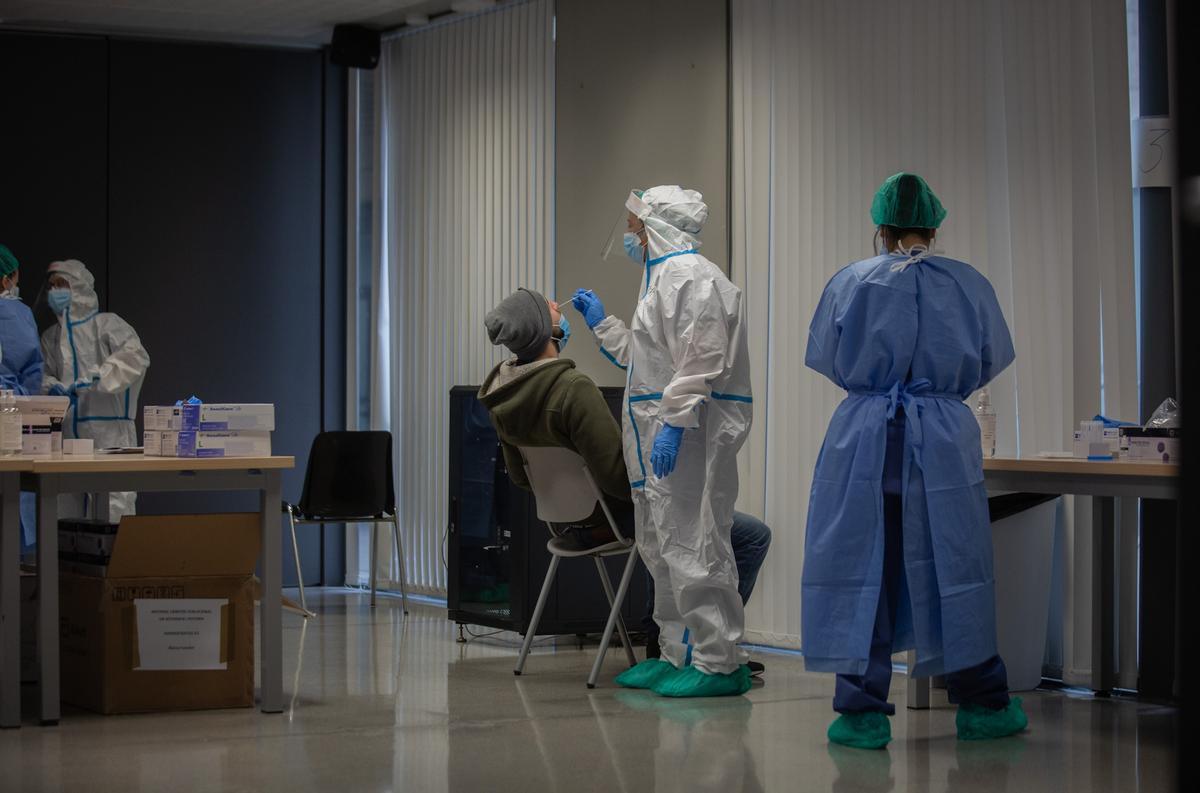 Vacunación en  Barcelona.