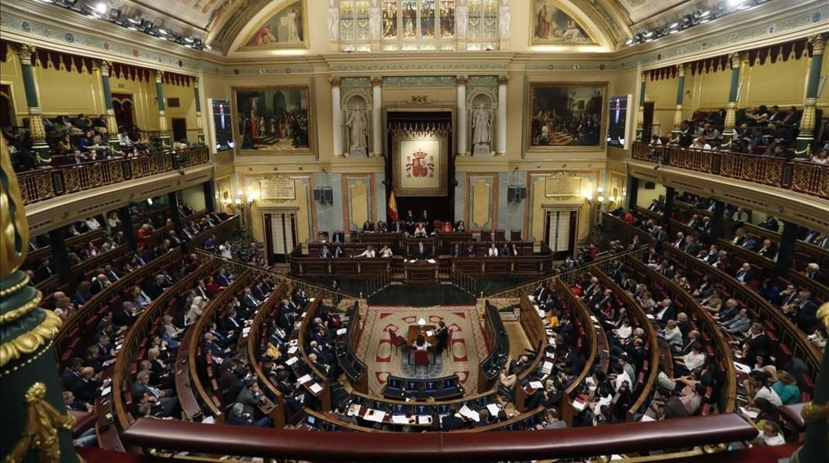 Hemiciclo del Congreso de los Diputados, en una imagen de archivo.
