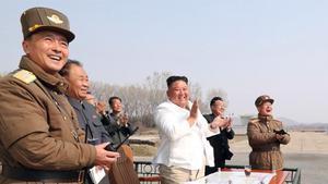 Una imagen de Kim Jong Un el pasado 12 de abril.