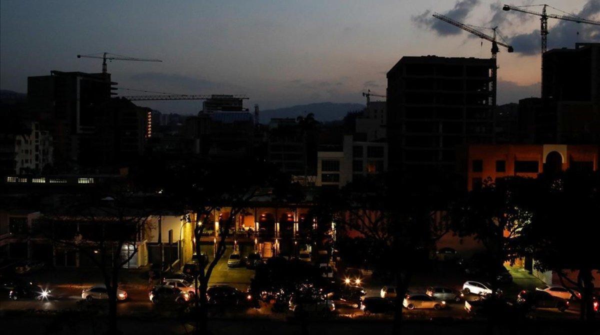 Vista de Caracas a oscuras.
