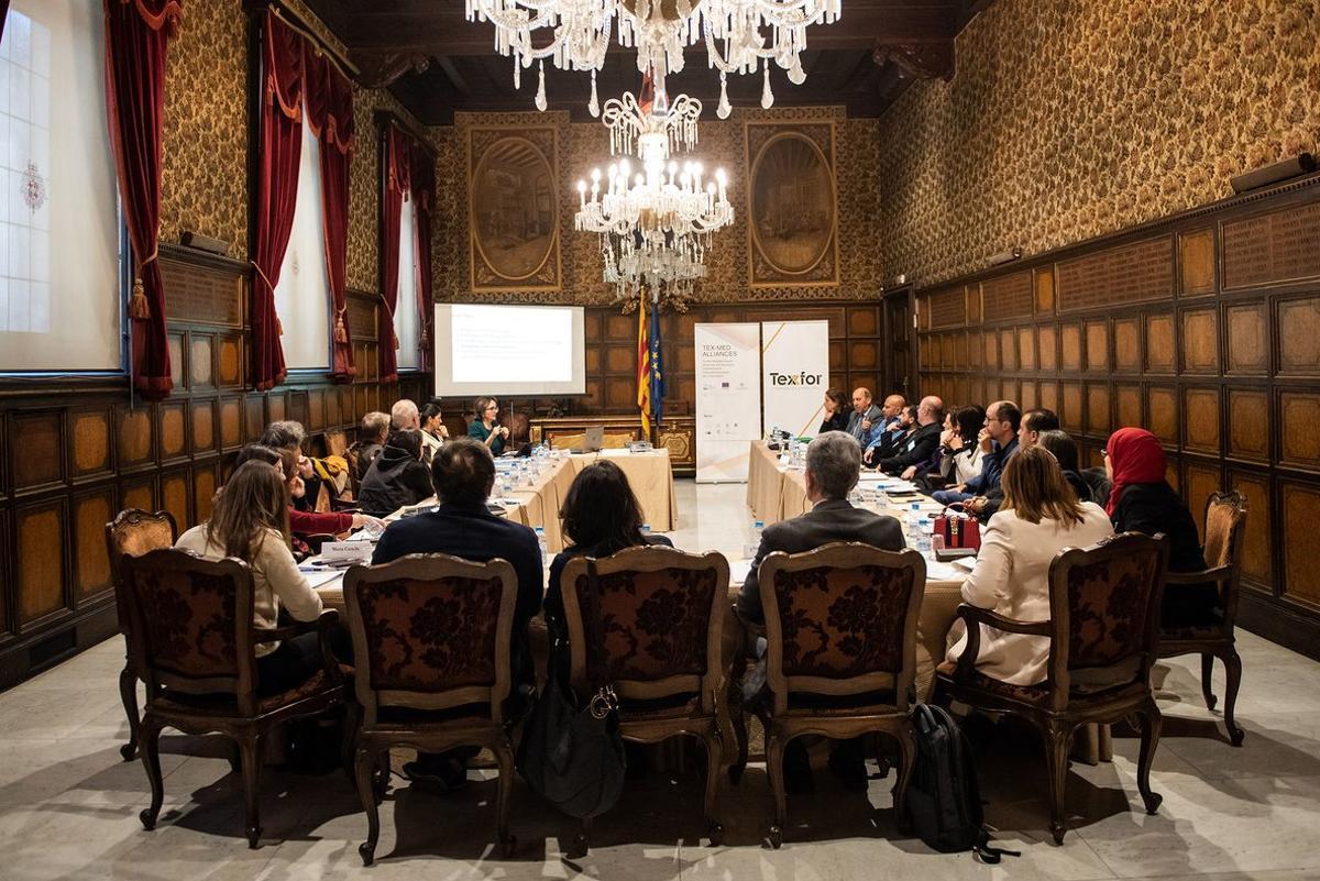 La reunión para impulsar la Tex-Med Alliances, con el liderazgo de la patronal Texfor.
