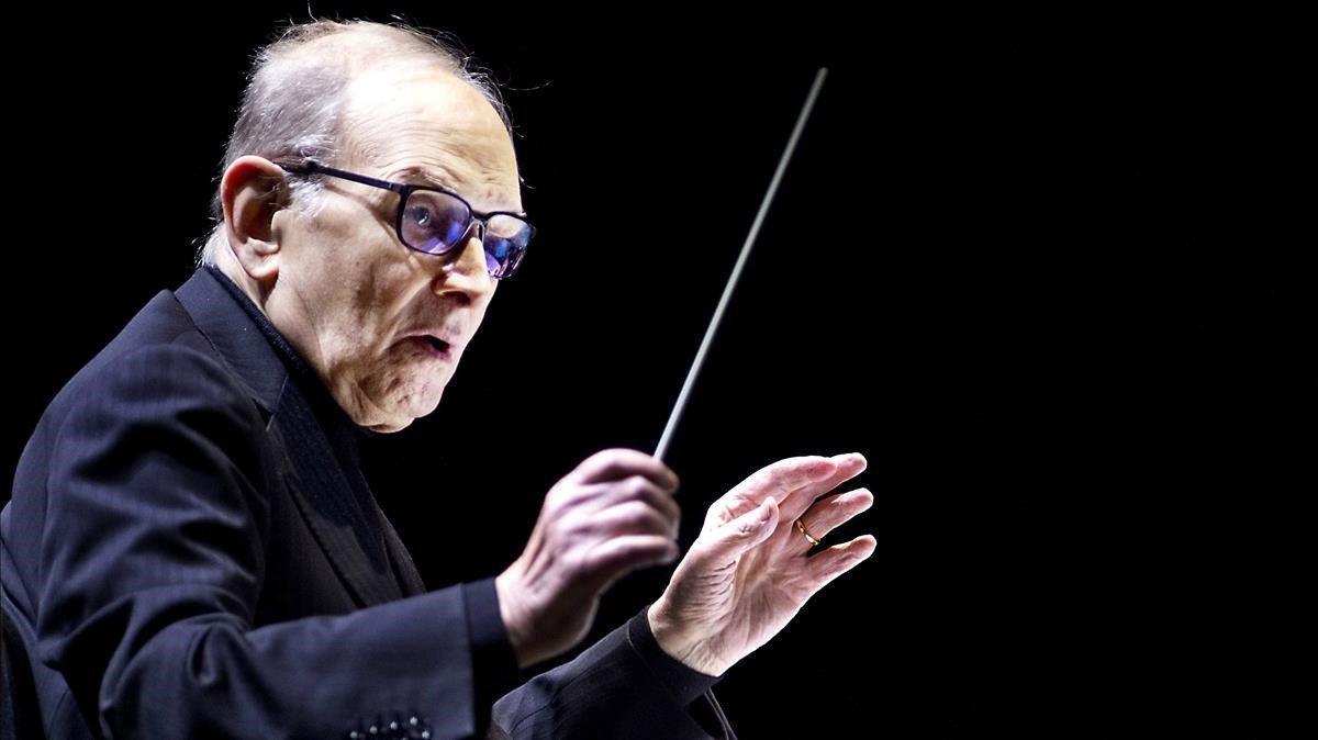 El maestro Ennio Morricone, a los 91 años, en el 2016.