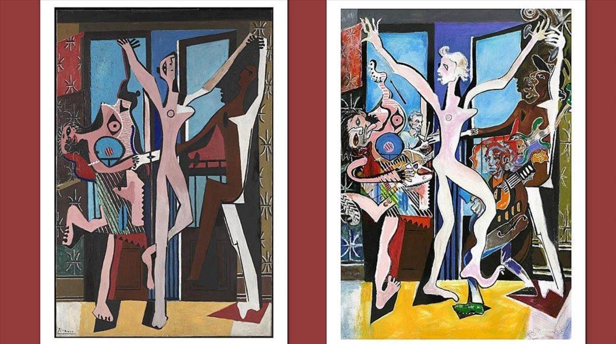 'La danza', de Picasso (izquierda), y 'The Picasso Stones', de Ron Wood.
