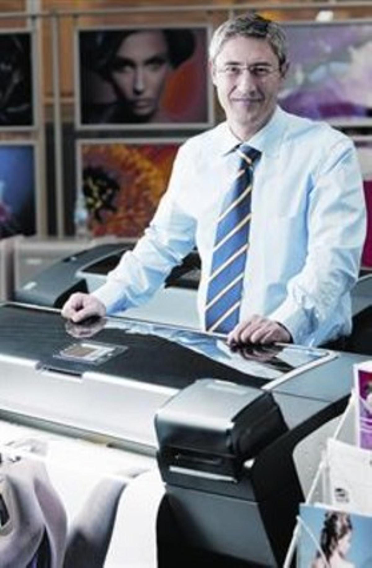 Ramon Pastor, responsable de impresoras de gran formato.