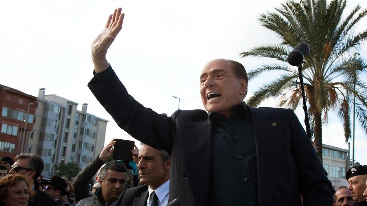Silvio Berlusconi en Cerdeña.