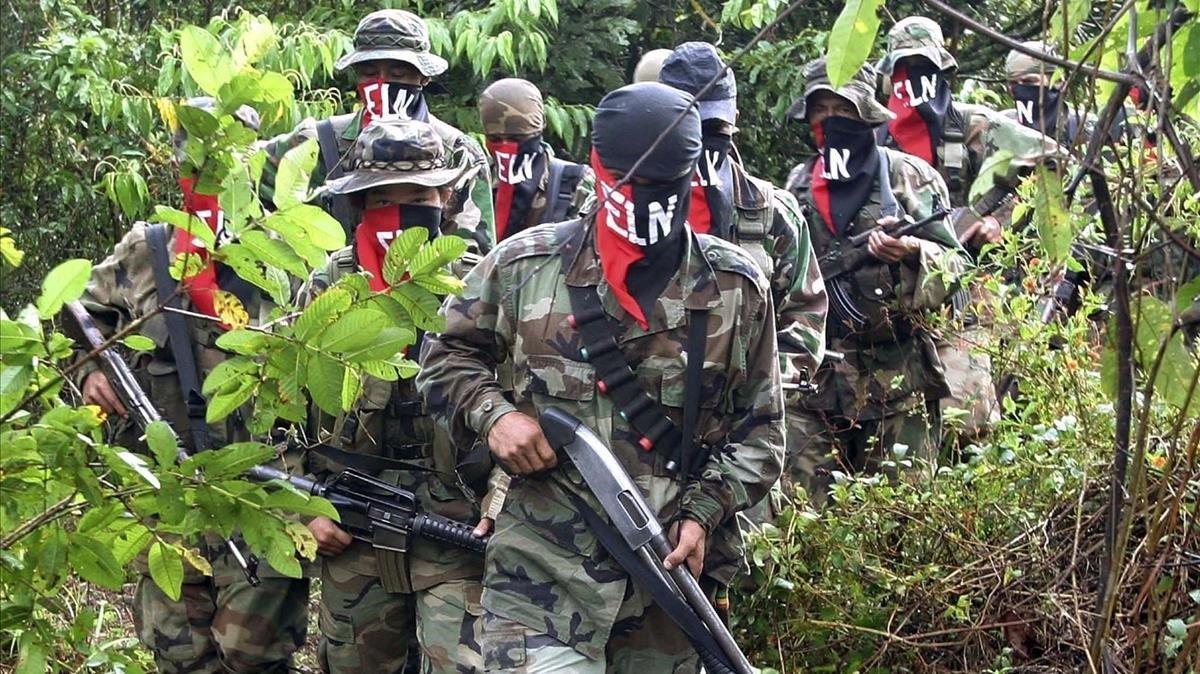 Miembros del Ejército de Liberación Nacional (ELN) de Colombia.