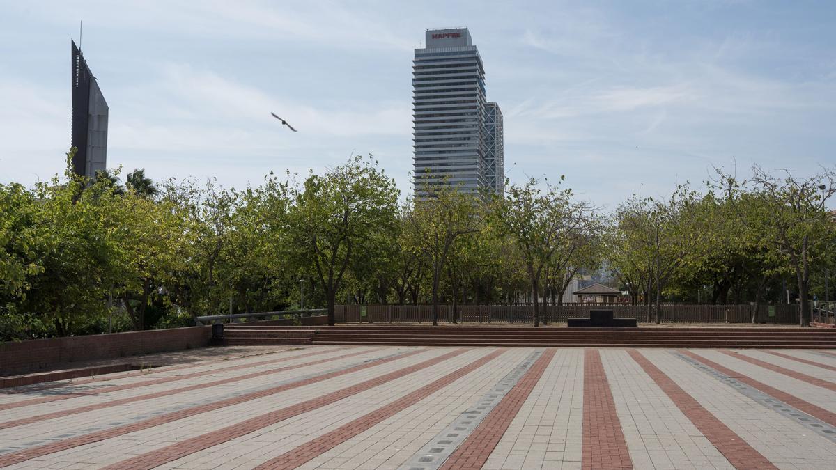 La Plaça dels Campions, en la Vila Olímpica de Barcelona.