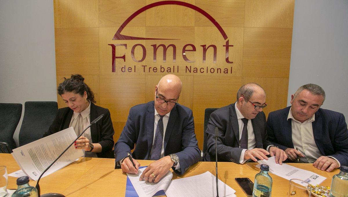 Los autónomos de AMALL se integran formalmente en la patronalFoment del Treball.