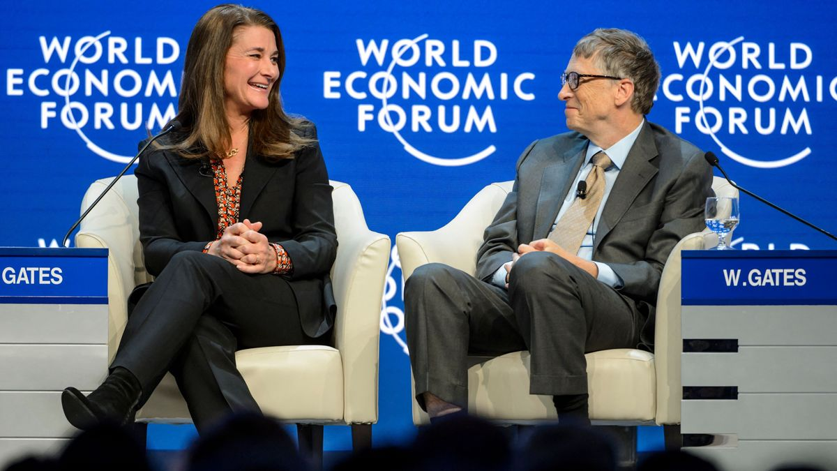 Melinda y Bill Gates, en Davos, en 2015