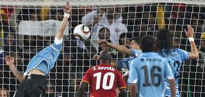 Imagen del Ghana Uruguay del Mundial de Sudáfrica.