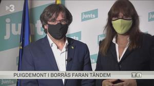 Carles Puigdemont y Laura Borràs ('TN vespre')