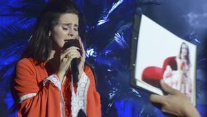 Lana del Rey, en el festival de Pedralbes de Barcelona, en el 2013