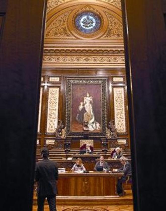 Un moment del ple de l'Ajuntament de Barcelona, divendres.