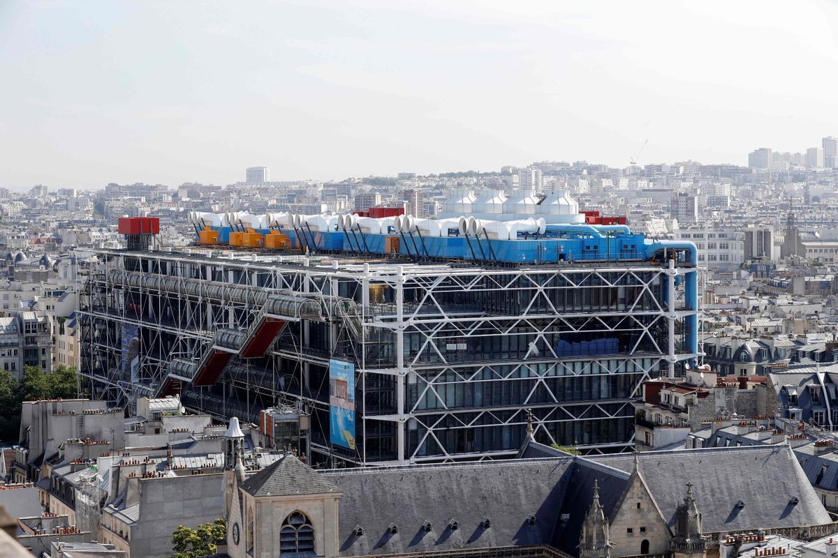El Centro Pompidou de París.