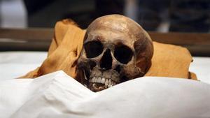 Momia de Akenatón, el faraón hereje y marido de Nefertiti.