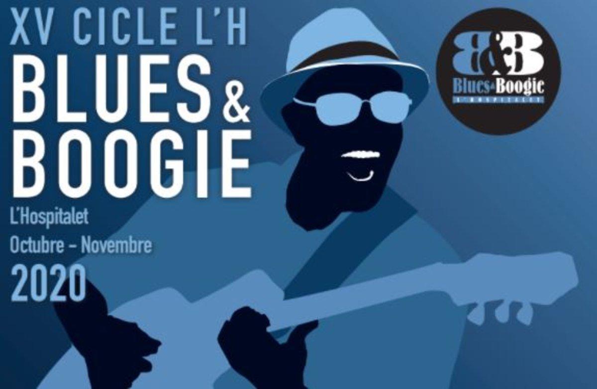 Cartel de la edición de 2020 del Ciclo Blues&Boogie de L'Hospitalet.