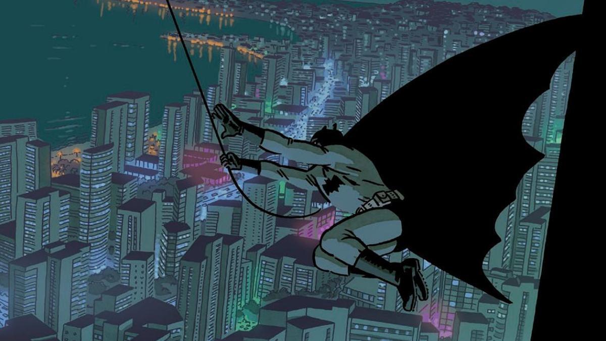 Viñeta de Paco Roca para su historieta de la antología 'Batman: El mundo'.
