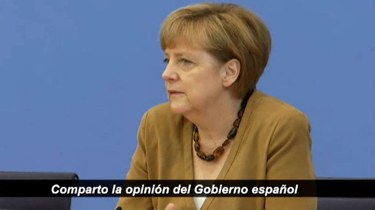 Merkel sobre Catalunya: Comparto la posición del Gobierno español.