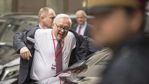 El viceministro ruso de Exteriores, Serguéi Ryabkov, llega a la sede de las conversaciones en Viena, este martes.
