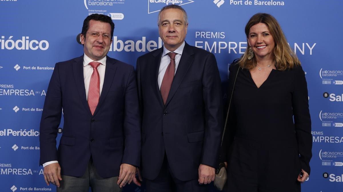 De izquierda a derecha, Joan Parra,Pere Navarro y Blanca Sorigué.
