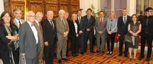 Participantes en la constitución de la Fundació Catalunya Cultura.