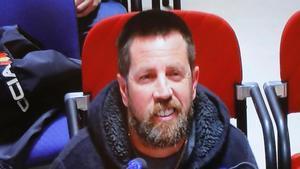 Conformado el jurado del juicio de Diana Quer. En la foto,José Enrique Albuín Gey, alias 'el Chicle', en el banquillo de acusados el pasado 10 de abril.