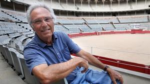 Salvador Balil, en sus asientos de la Monumental, hoy vacía y silenciosa.