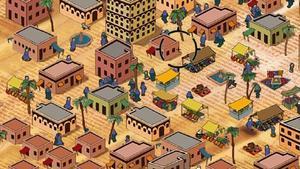 Uno de los videojuegos expuestos en la muestra'Gameplay', en concreto 'September 12th: A toy world', de Gonzalo Frasca.