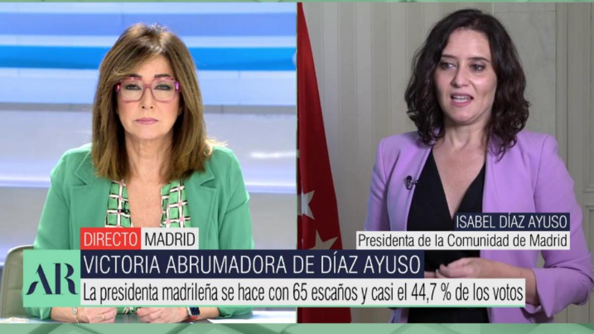 Ana Rosa Quintana e Isabel Díaz Ayuso.