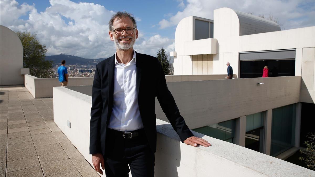 Marko Daniel, en una de las terrazas de la Fundació Miró.