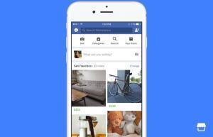 La aplicación Marketplace de Facebook.
