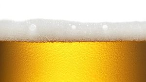Una caña de cerveza.