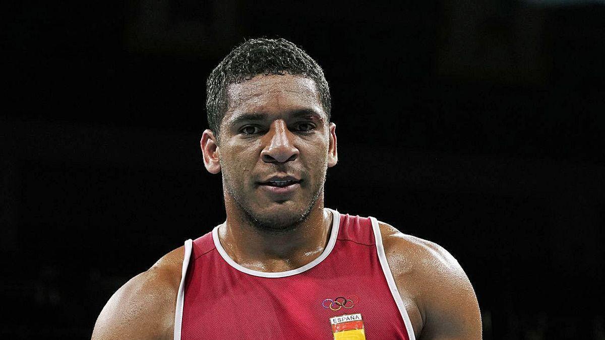 Enmanuel Reyes, tras sus victoria en primera ronda.
