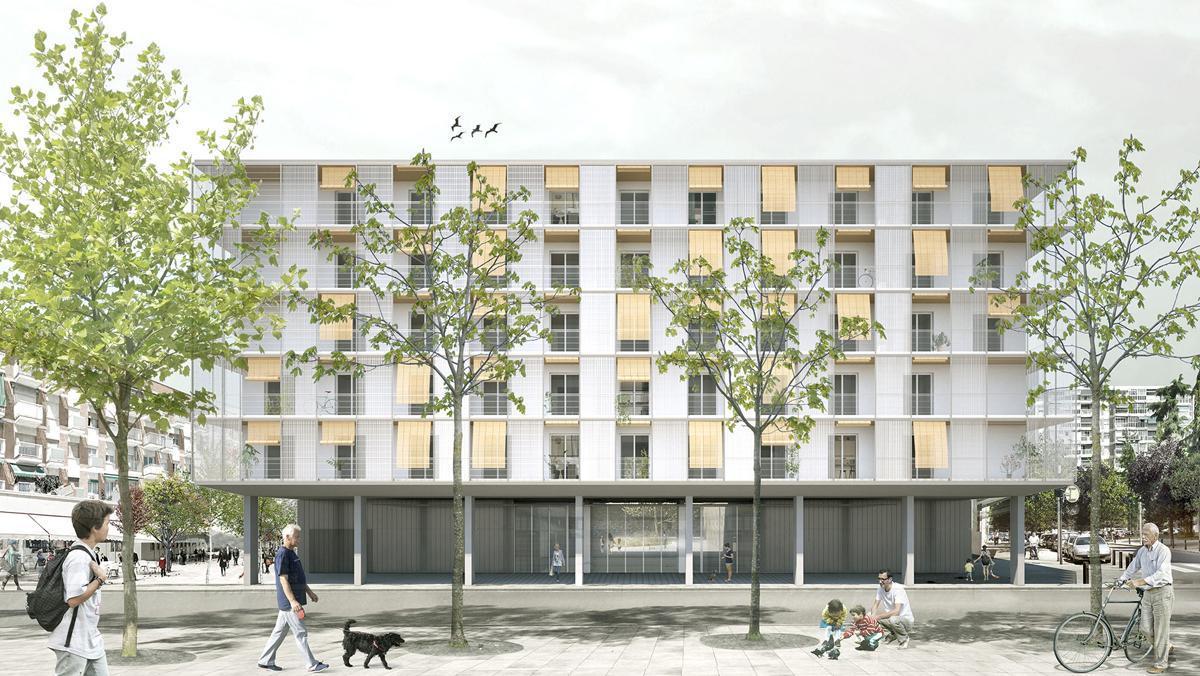 Imagen virtual de la promoción de VPO del Edificio PISA de Cornellà.