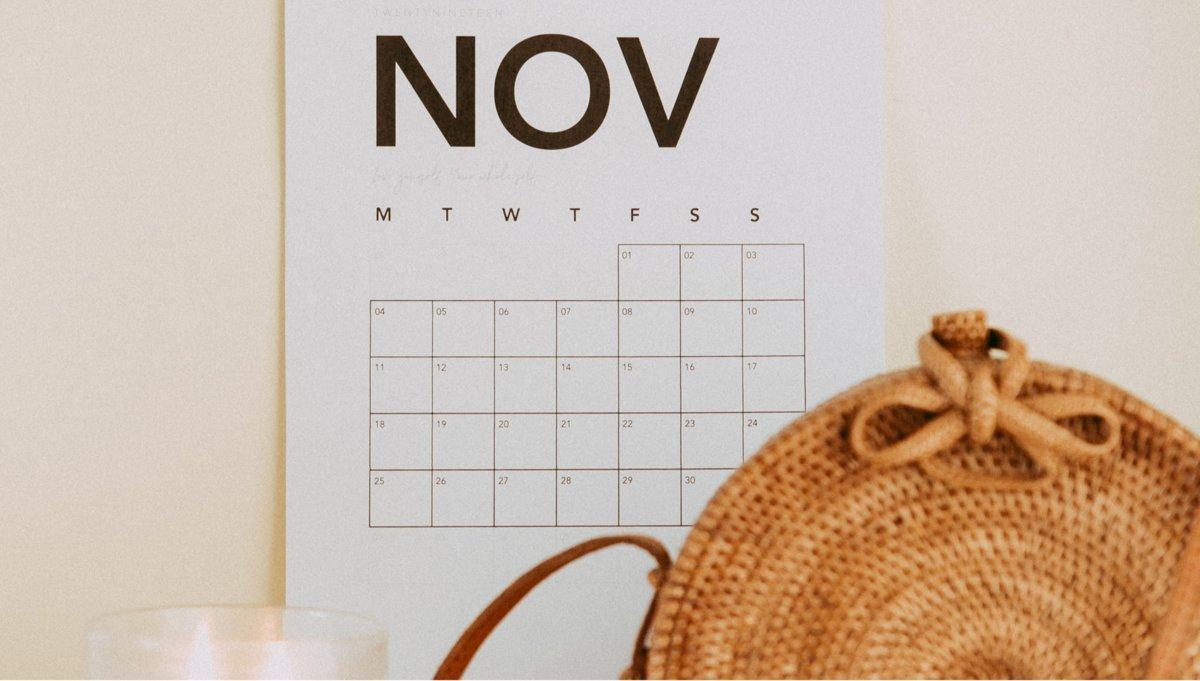 Agenda de noviembre para el emprendedor
