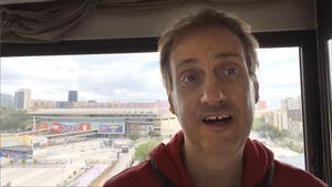 Albert Espinosa, en las instalaciones del Barça.