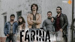 Cartel promocional de la serie de Antena 3'Fariña'.