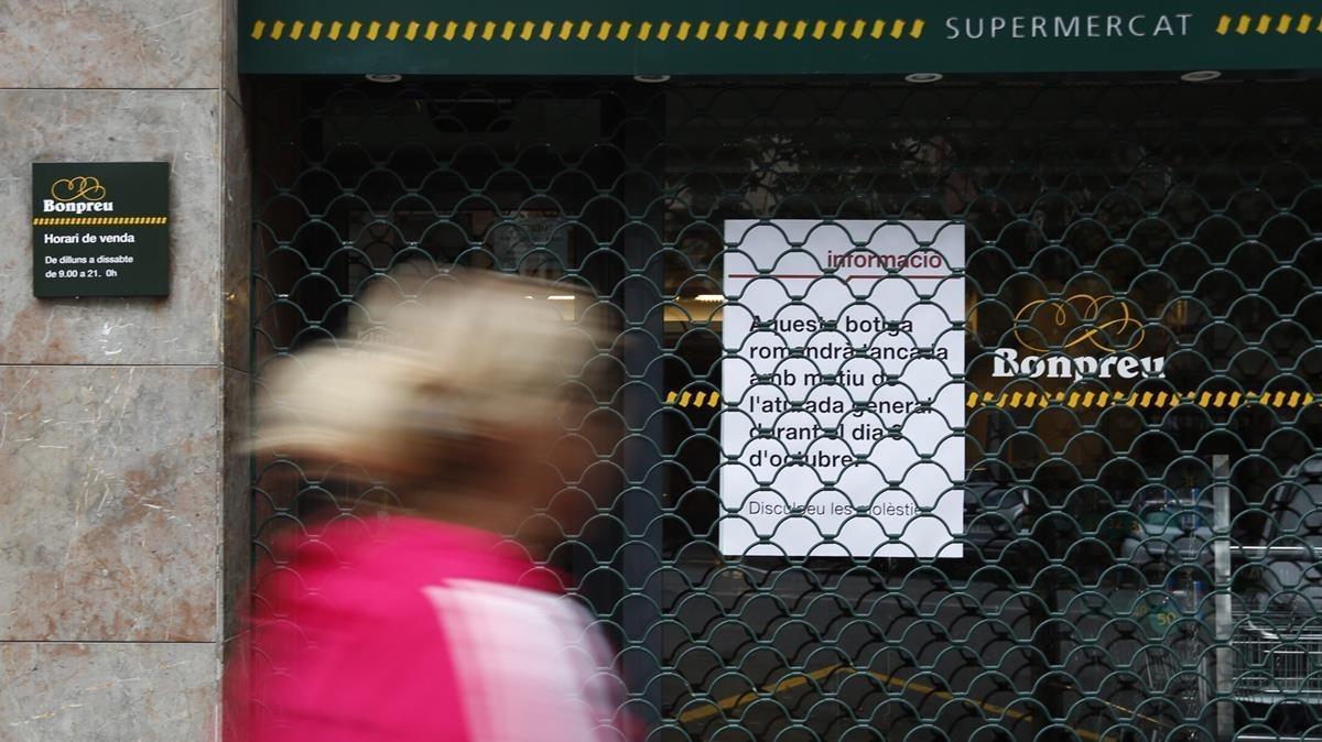 La cadena de supermercados Bonpreu i Esclat secundó el paro del día 3 de octubre.