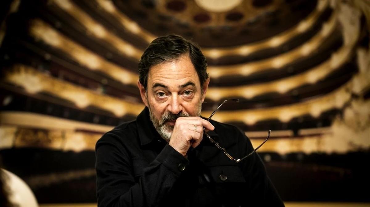 Àlex Ollé, en el Liceu, durante los ensayos de 'Quartett'.