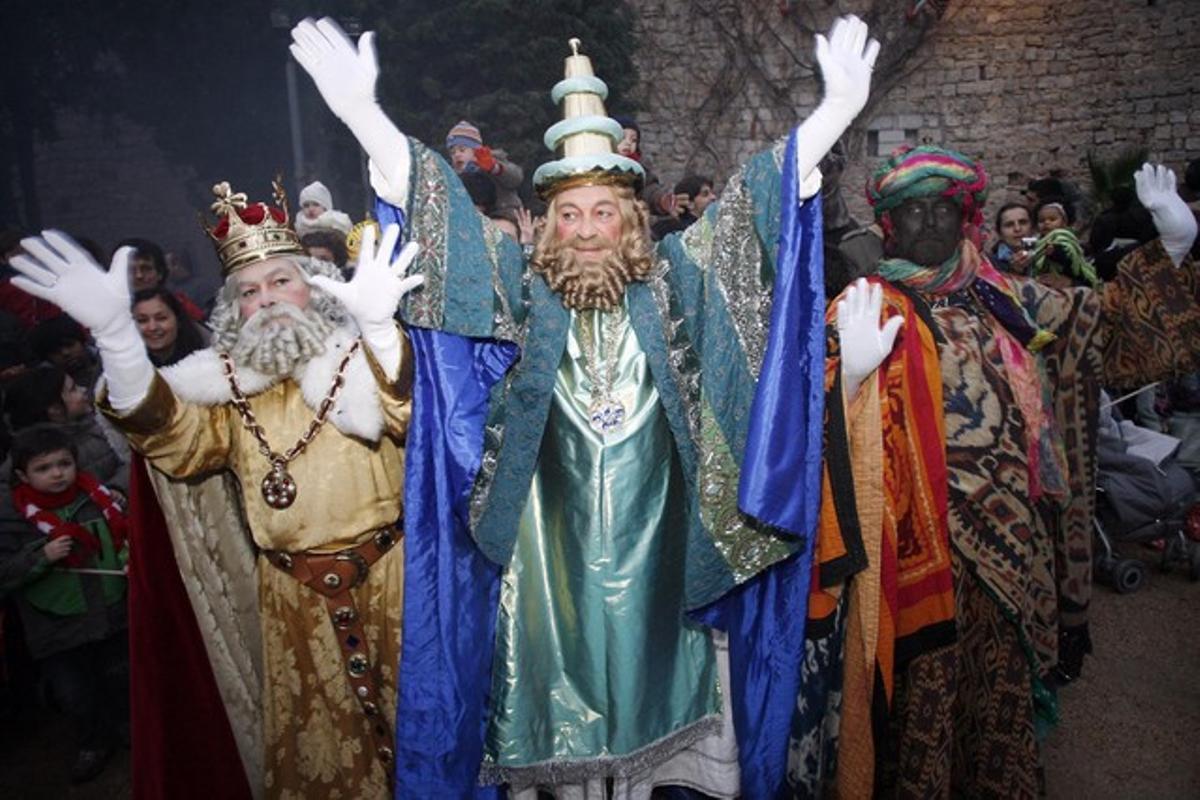 Llegada de los Reyes Magos a Girona, en la cabalgata del 2010.