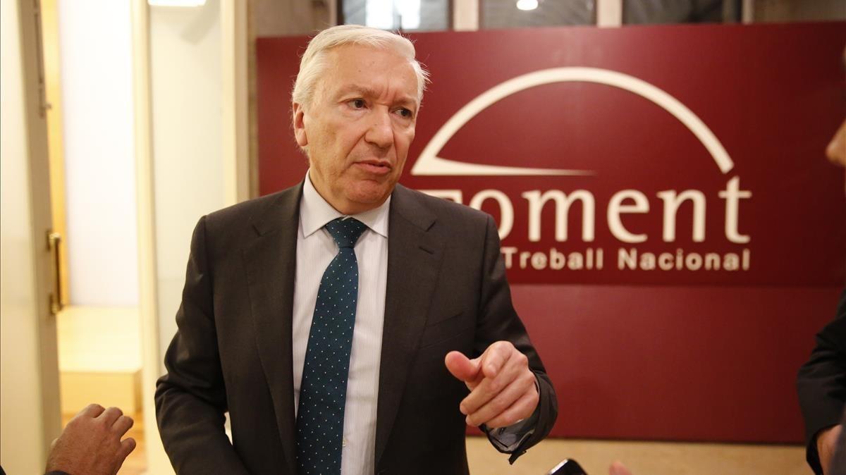 El presidente de Cecot, Antoni Abad.