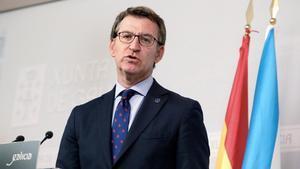 El presidente de la Xunta de Galicia,Alberto Núñez Feijóo.