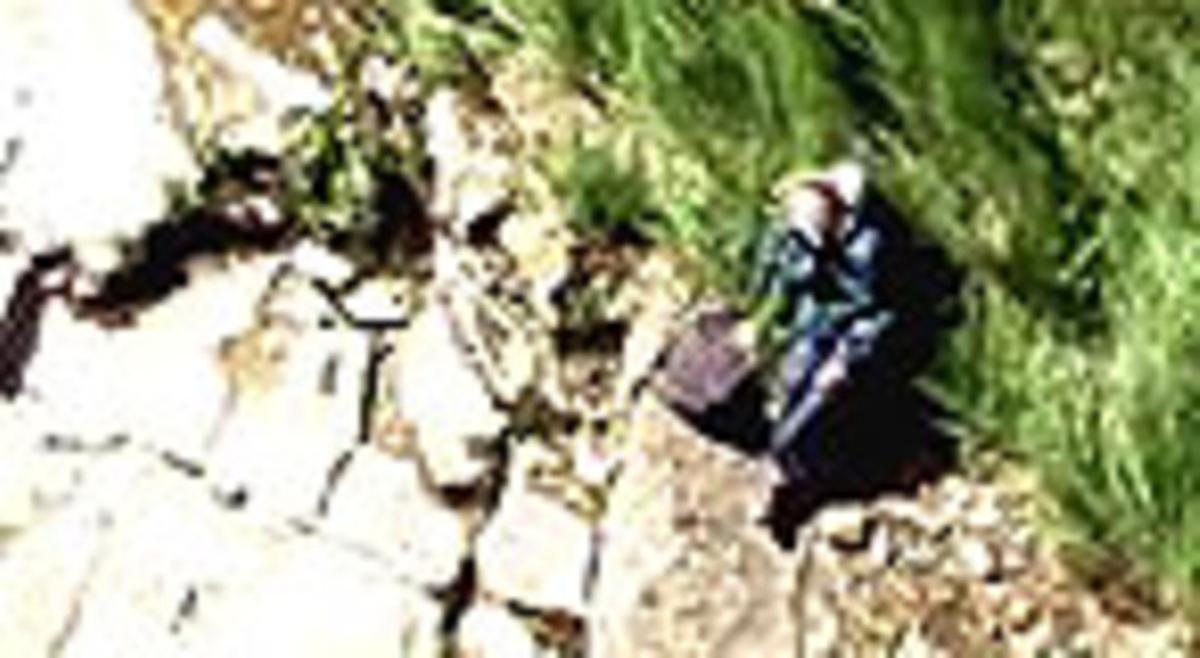 Imagen de la excursionista captada desde el helicóptero de rescate.