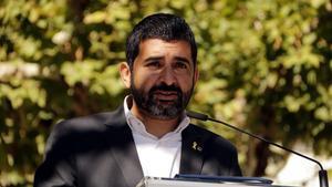El 'conseller' de Afers Socials,Chakir El Homrani, este domingo en Balaguer.