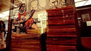 Imagen de la exposición 'El Capitán Trueno. Tras los pasos del héroe', en el Círculo de Bellas Artes de Marid.