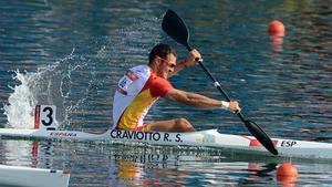 Saúl Craviotto, durante la prueba de& K-1 200 metros de los Juegos Olímpicos de Londres.